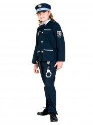 Blauw politie agent kostuum voor kinderen