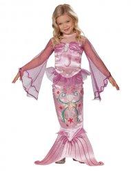 Roze satijnachtige zeemeermin outfit voor meisjes