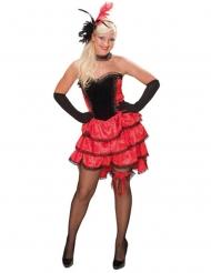 Western can can danseres kostuum voor vrouwen