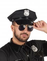 Zwarte stoffen politie pet voor volwassenen