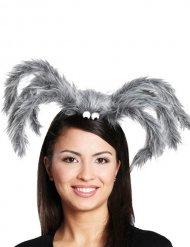 Grijze spin haarband voor volwassenen