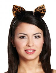 Bruine en zwarte luipaard haarband voorv rouwen