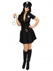 Zwart sexy politie uniform voor vrouwen
