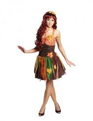 Herfstachtige bosfee kostuum voor vrouwen