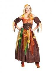 Bruin bosfee kostuum voor vrouwen