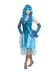 Blauw en glanzend zeemeermin kostuum voor vrouwen