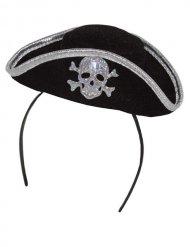 Mini piraten hoedje voor volwassenen