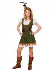 Middeleeuws boogschutter kostuum voor vrouwen