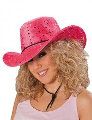 Roze cowgirl hoed voor volwassenen