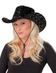 Zwarte cowgirl hoed voor volwassenen
