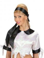 Satijnachtige zwarte hoofdband voor vrouwen