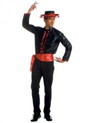 Flamenco blouse met riem kostuum voor volwassenen