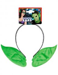 Groene elfen oren haarband voor volwassenen