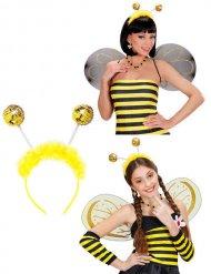 Bijen haarband met nepbont voor volwassenen