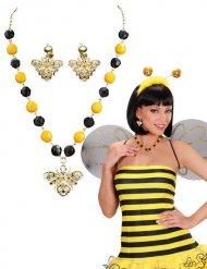 Zwarte en gele bij juwelen set voor vrouwen