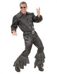 Zilverkleurige disco glitter broek voor mannen