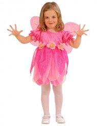 Roze bloemen fee kostuum voor meisjes