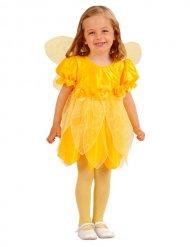 Geel bloemenfee kostuum voor meisjes