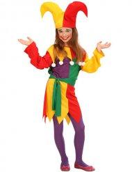 Felgekleurd hofnar kostuum voor kinderen