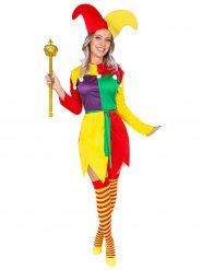 Kleurig harlekijn kostuum voor vrouwen