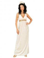 Wit antiek Romeinse godin kostuum voor voruwen