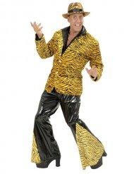 Zwarte en bruine disco tijger broek voor mannen