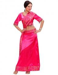 Roze Indiaas Bollywood kostuum voor vrouwen
