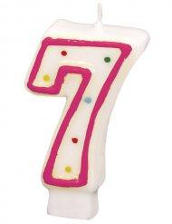 Verjaardagskaars met getal 7