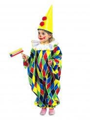 Kleurrijk clown harlekijn kostuum voor kinderen