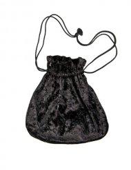 Zwart fluweelachtig zakje