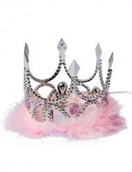 Roze en zilverkleurige prinsessenkroon