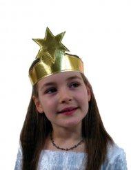 Goudkleurige hoofdband met ster voor kinderen