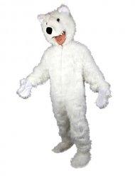 Grote witte ijsbeer mascotte outfit voor volwassenen