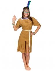Bruin indianenkostuum voor vrouwen