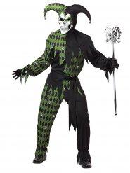 Duivelse groene harlekijn kostuum voor heren
