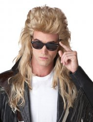Blonde jaren 80 mullet pruik