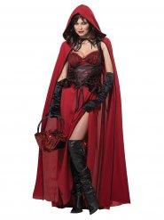 Sexy donker Roodkapje kostuum voor vrouwen