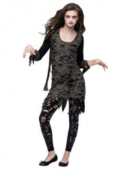Donkere zombie outfit voor vrouwen