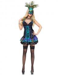 Sexy kleurrijke Venetiaanse carnaval outfit voor vrouwen