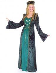 Groene middeleeuwse outfit voor vrouwen