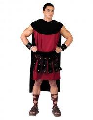 Rood en zwart Romeins kostuum voor mannen