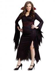 Gothic vampier kostuum voor vrouwen - Grote Maten