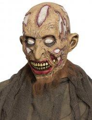 Beige rottend zombie masker voor volwassenen