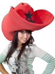 Enorme rode cowboy hoed voor volwassenen