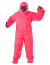 Fluo roze gorilla kostuum voor volwassenen