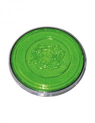 Groene UV neon make-up