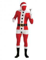 Second skin kerstman kostuum voor volwassenen