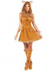 Sexy rode vos kostuum voor vrouwen