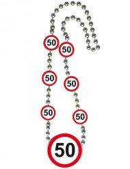 50 jaar verjaardag halsketting