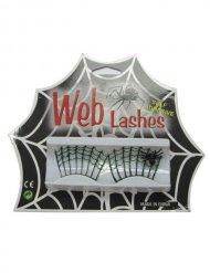 Zwarte spinnenweb nep wimpers